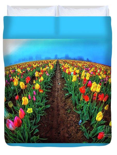 World Of Tulips Duvet Cover