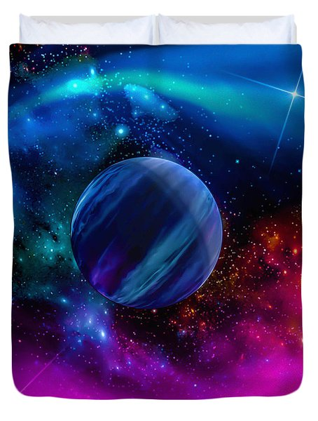 World Of Water Duvet Cover by Naomi Burgess