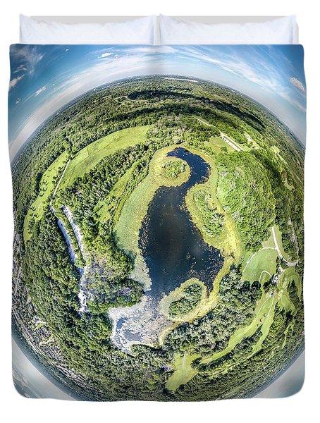 Duvet Cover featuring the photograph World Of Whitnall Park by Randy Scherkenbach