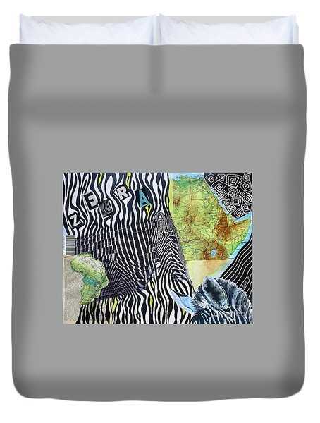 World Of Zebras Duvet Cover