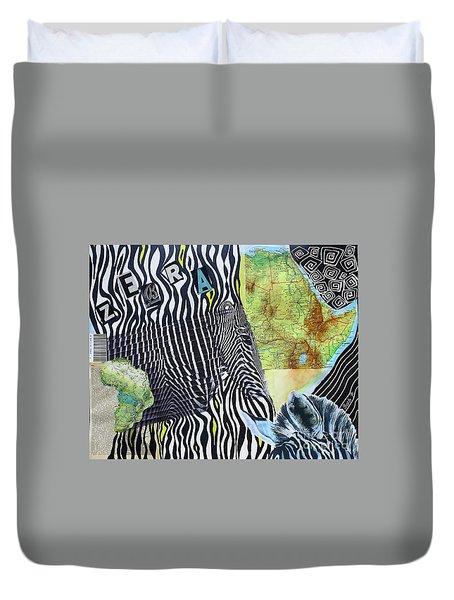 World Of Zebras Duvet Cover