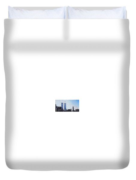 World Trade Center Once Upon A Time... Duvet Cover