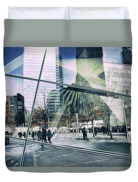 Duvet Cover featuring the photograph World Trade  by Jessica Jenney