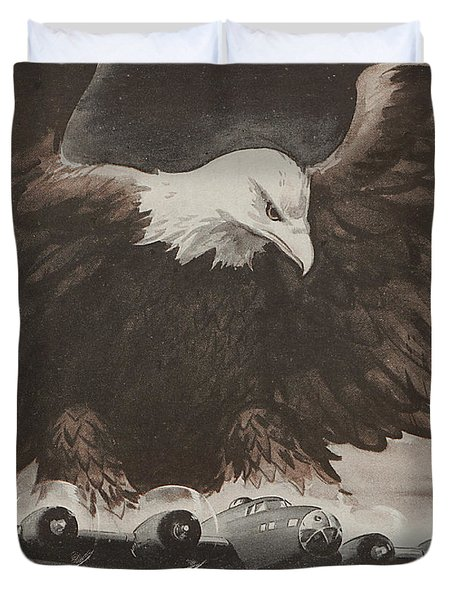 World War II Advertisement Duvet Cover by American School