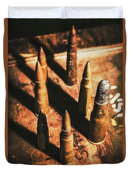 World War II Ammunition Duvet Cover