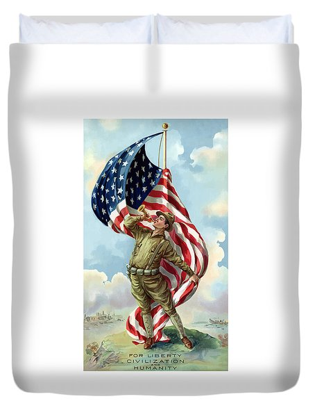 World War One Soldier Duvet Cover by War Is Hell Store