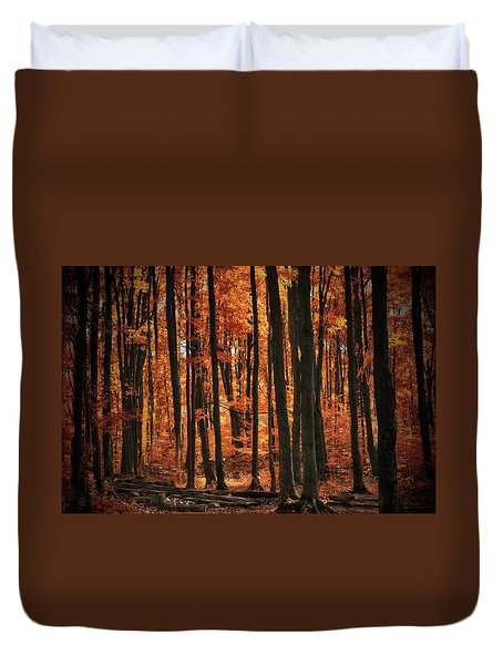 World With Octobers Duvet Cover