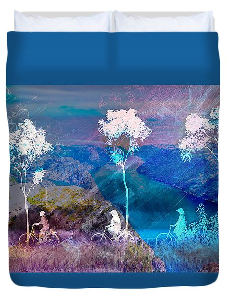 Worlds Apart Duvet Cover by Suzanne Powers