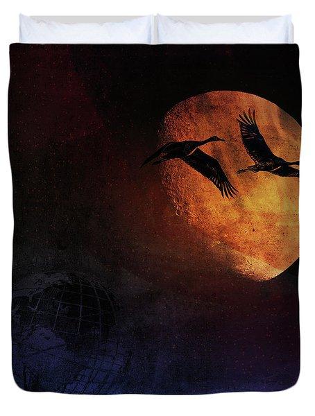 World's Fair Birds Duvet Cover