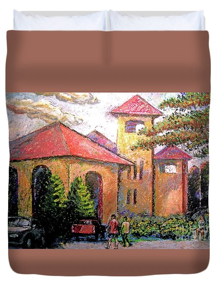 Worlds Fair Pavilion In Forest Park Duvet Cover