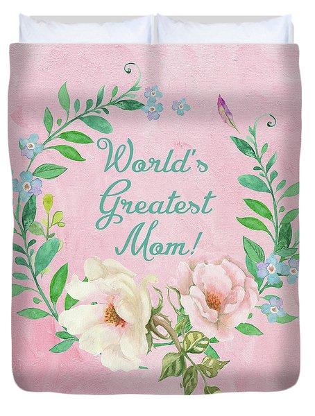 World's Greatest Mom Duvet Cover