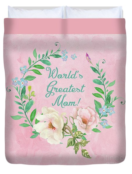 World's Greatest Mom Duvet Cover