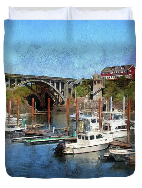 Duvet Cover featuring the photograph Worlds Smallest Harbor by Thom Zehrfeld