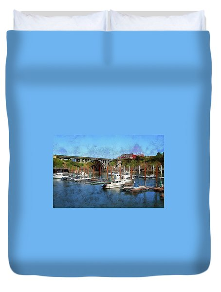 Worlds Smallest Harbor Duvet Cover