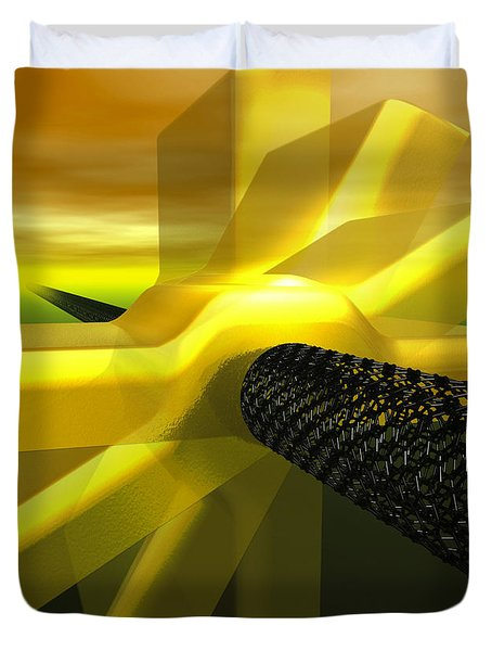 Worlds Smallest Nanomotor Duvet Cover