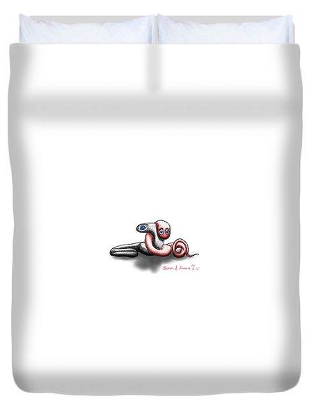 Worm Hug. Duvet Cover
