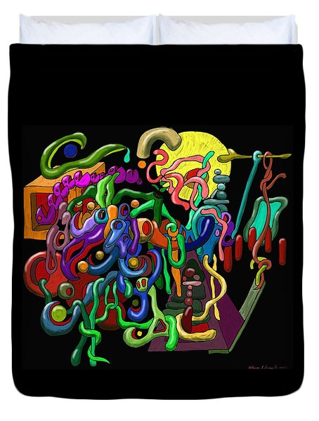 Worm Playground Duvet Cover