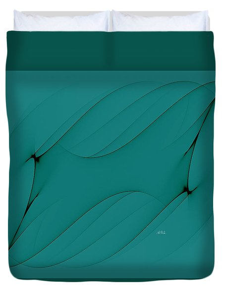 Wormhole In Turquoise  Duvet Cover by Angela A Stanton