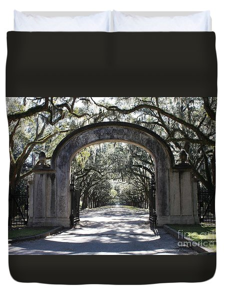 Wormsloe Plantation Gate Duvet Cover