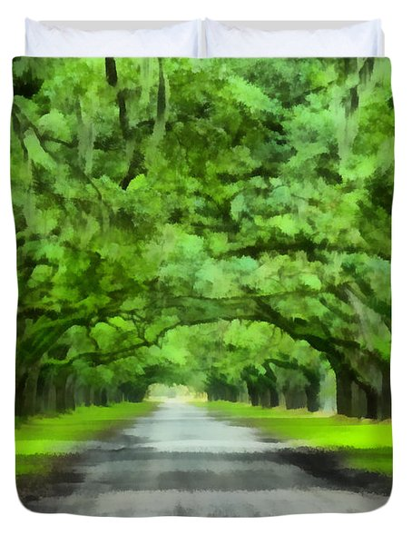 Wormsloe Plantation Duvet Cover