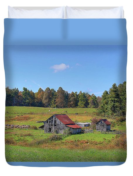 Duvet Cover featuring the digital art Worn Out by Sharon Batdorf