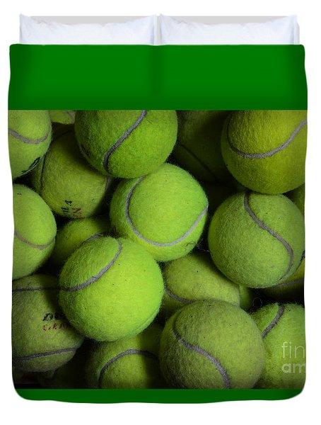 Worn Out Tennis Balls Duvet Cover by Paul Ward