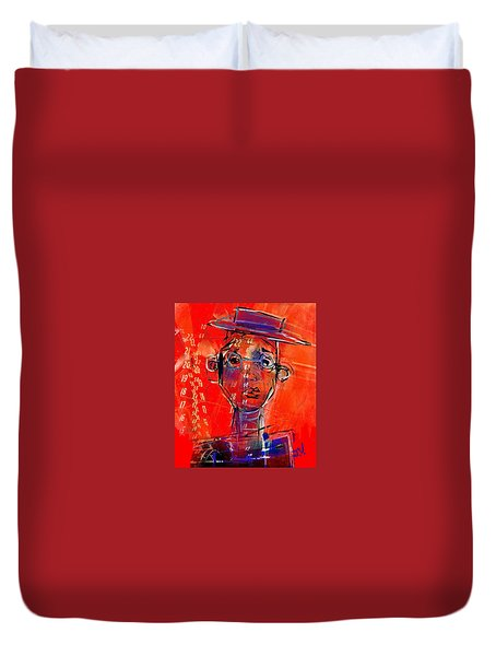 Worrying Numbers Duvet Cover by Jim Vance