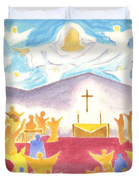 Worship God In Spirit And Truth Duvet Cover
