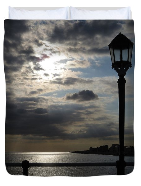 Worthing Seafront From The Pier Duvet Cover