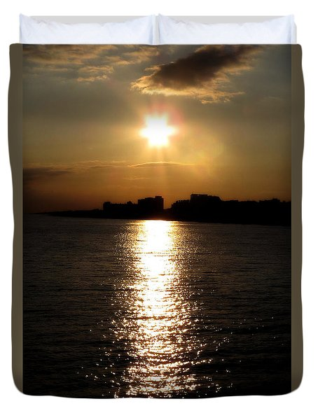Worthing Sunset Duvet Cover