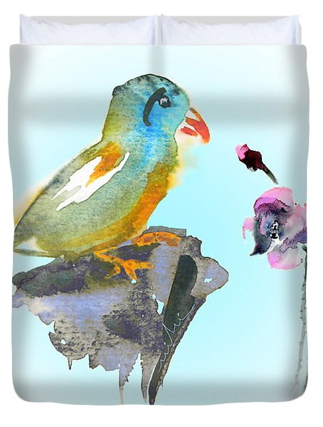 Would You Care To Dance With Me Duvet Cover by Miki De Goodaboom
