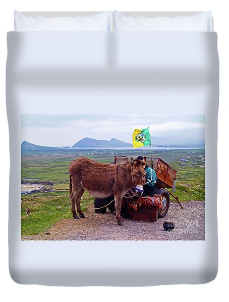 Would You Like A Ride In Ireland Duvet Cover