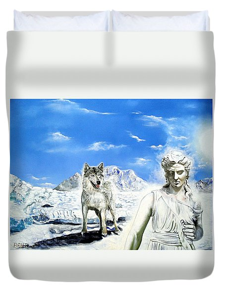 Wounded Amazon Duvet Cover