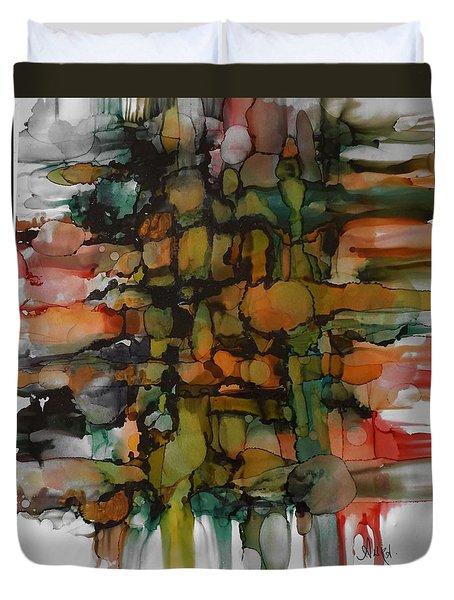 Woven Duvet Cover by Alika Kumar