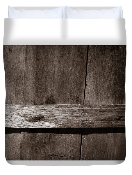Duvet Cover featuring the photograph Woven Wood by Chris Bordeleau