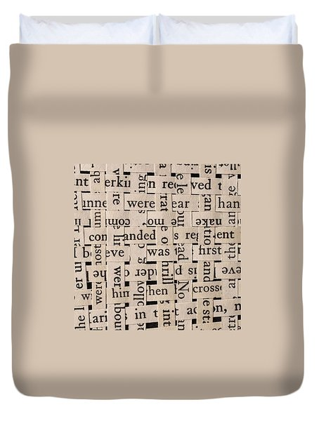 Woven Words By Edward M. Fielding - Duvet Cover by Edward Fielding