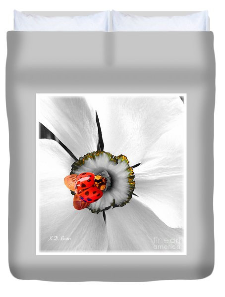 Wow Ladybug Is Hot Today Duvet Cover
