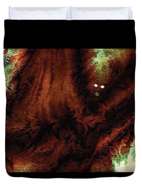 Duvet Cover featuring the digital art Wraith by Paula Ayers