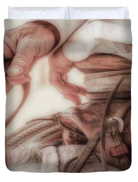 Wrangler Hands Duvet Cover