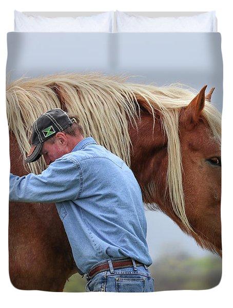 Wrangler Jeans And Belgian Horse Duvet Cover