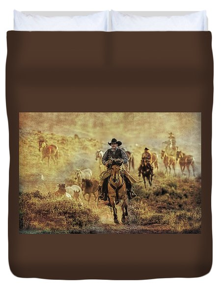 A Dusty Wyoming Wrangle Duvet Cover