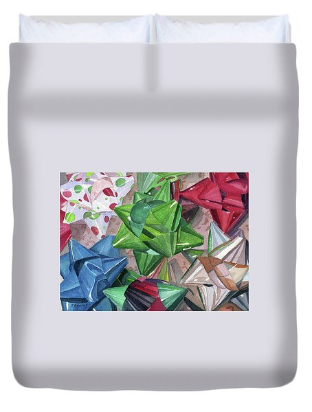 Duvet Cover featuring the painting Wrap It Up by Lynne Reichhart
