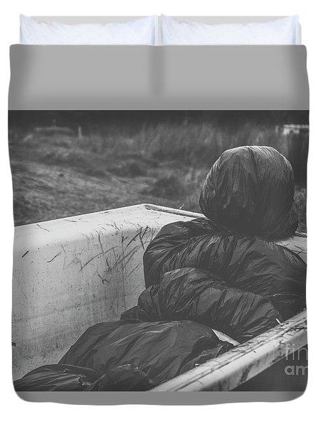 Wrapped Dead Body In Bath Tub, Csi Concept Duvet Cover