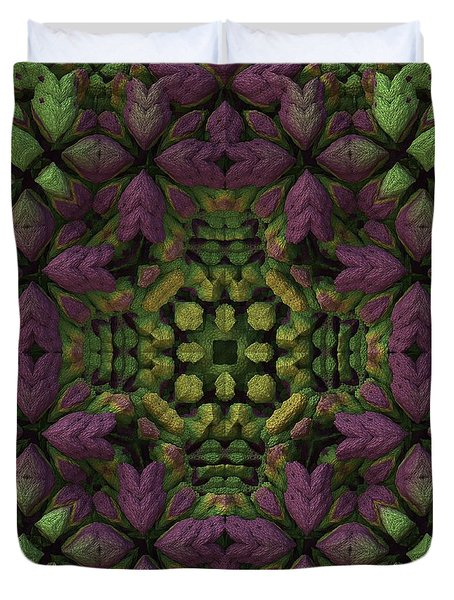 Duvet Cover featuring the digital art Wreath by Lyle Hatch