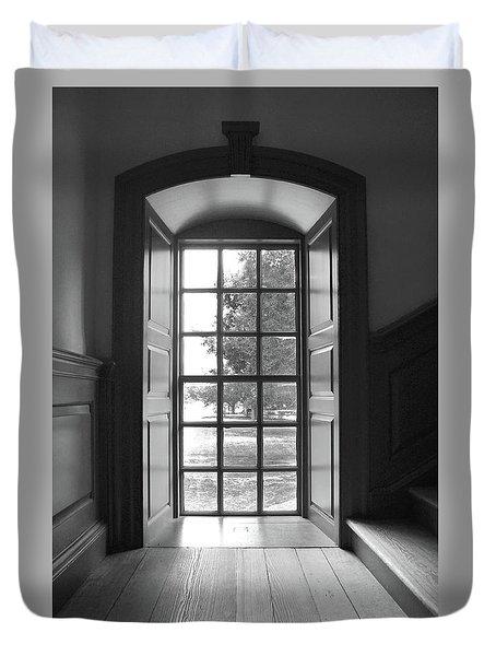 Wren Building Window Duvet Cover