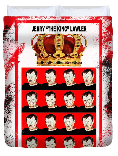 Wrestling Legend Jerry The King Lawler IIi Duvet Cover