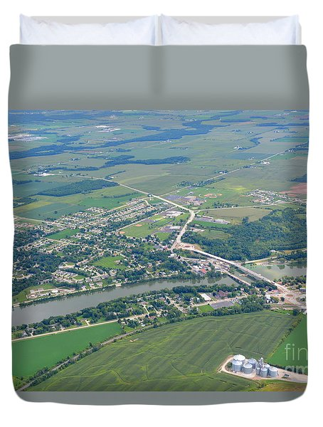 Duvet Cover featuring the photograph Wrightstown Wisconsin by Bill Lang