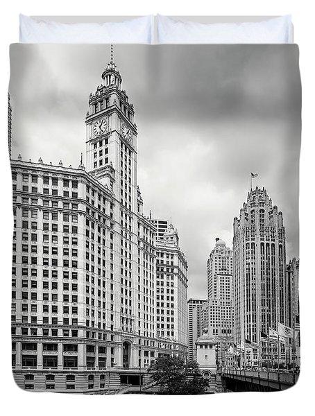 Wrigley Building Chicago Duvet Cover