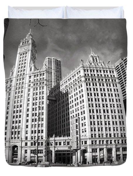 Wrigley Building - Chicago Duvet Cover