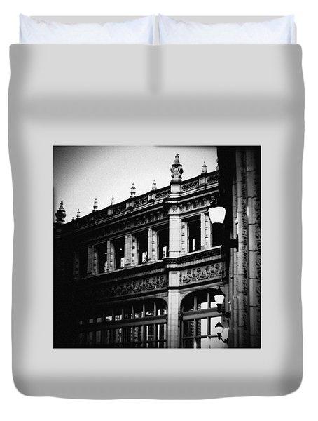 Wrigley Building Square Duvet Cover